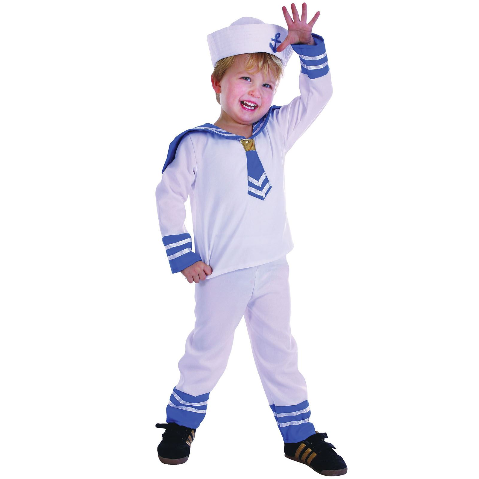 Kids Military Marine Sailor Navy Toddler Boys Girls Fancy Dress