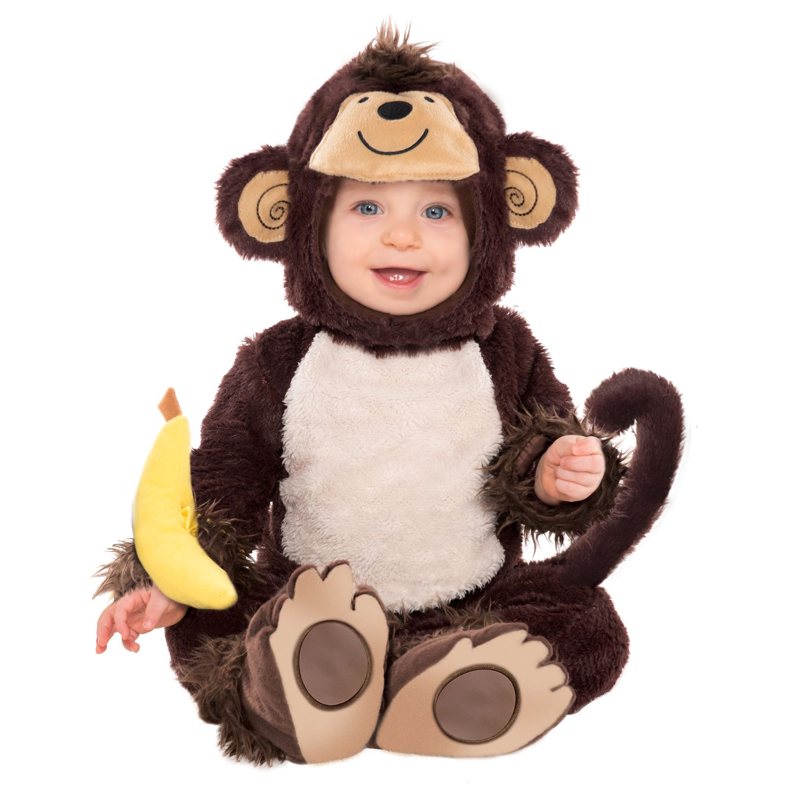 baby monkey jungle george fur costume onsie toddler