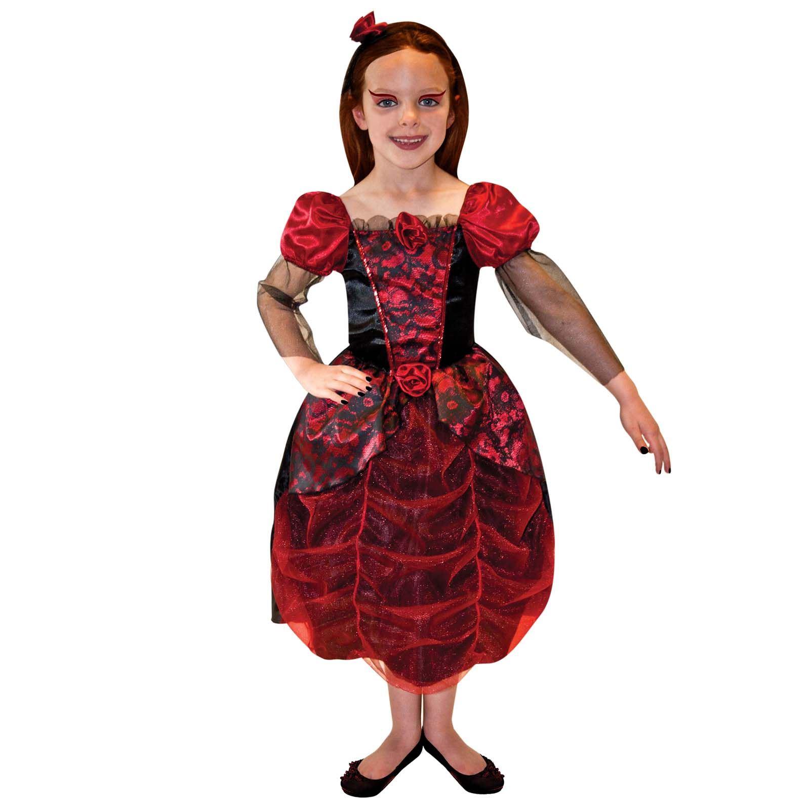girls vampiress ages 6 8 9 11 fancy dress kids halloween