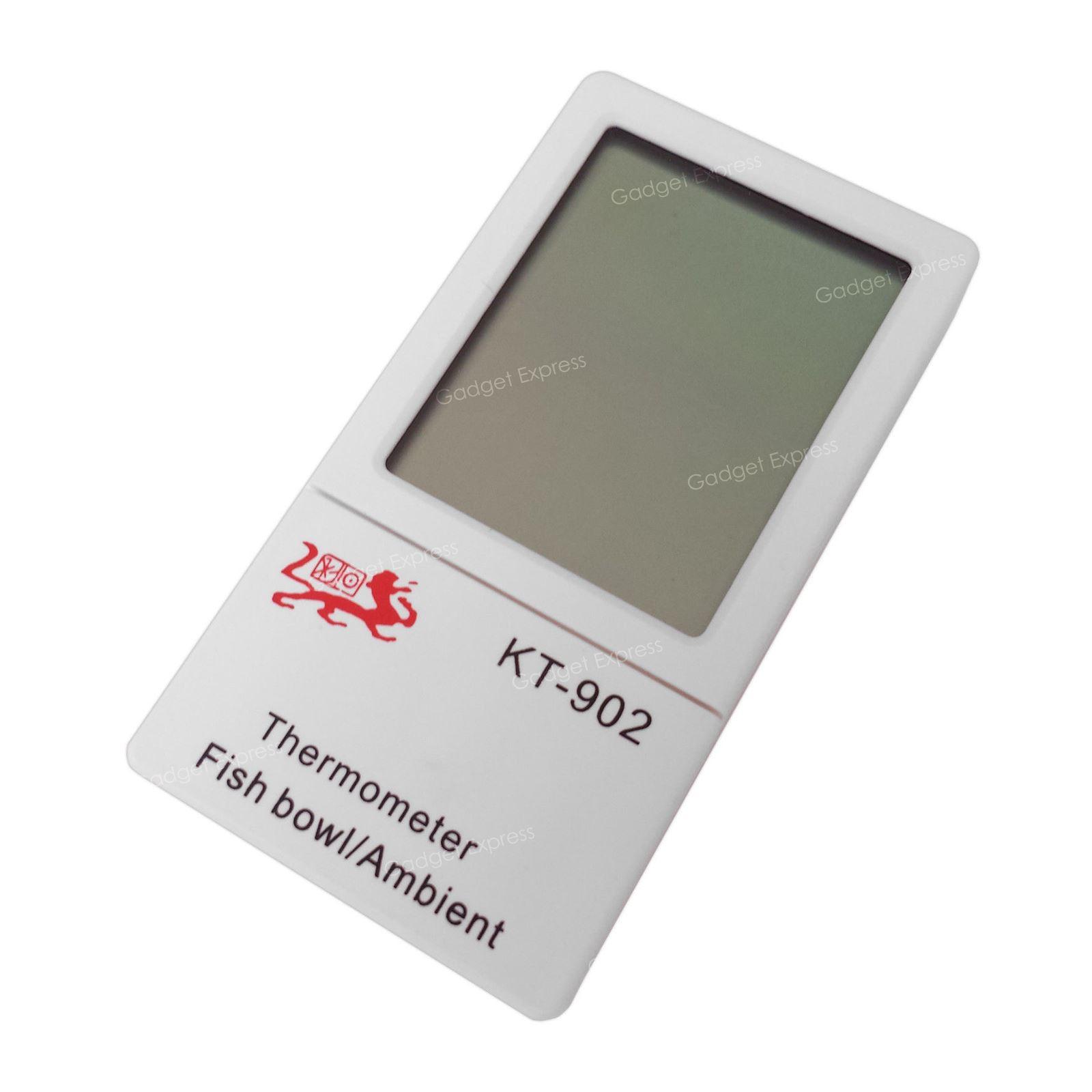Uk Lcd Digital Fish Reptile Aquarium Tank Water Thermometer Temperature