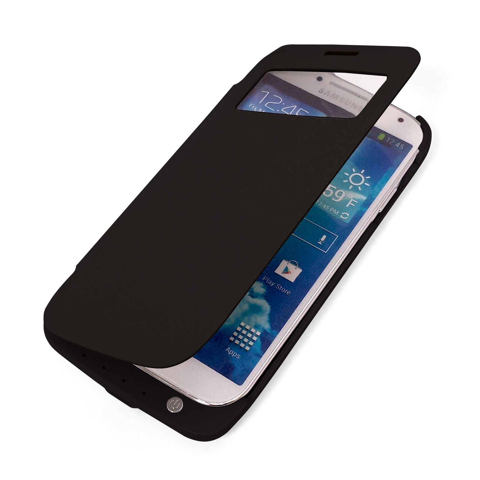 protective flip cover power case for samsung galaxy s4 phone extra battery boost ebay. Black Bedroom Furniture Sets. Home Design Ideas
