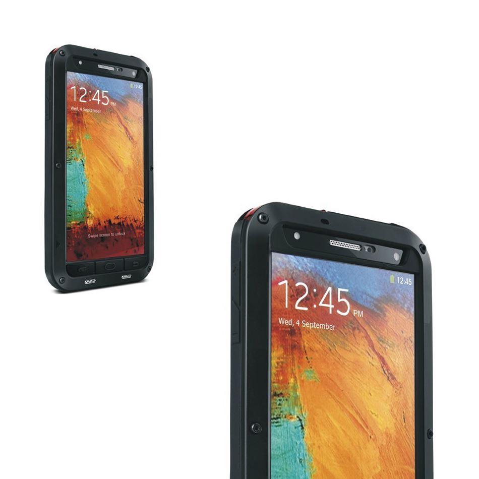 GENUINE LOVE MEI Aluminum Protective Gorilla Glass Case 4 Samsung Galaxy Note 3