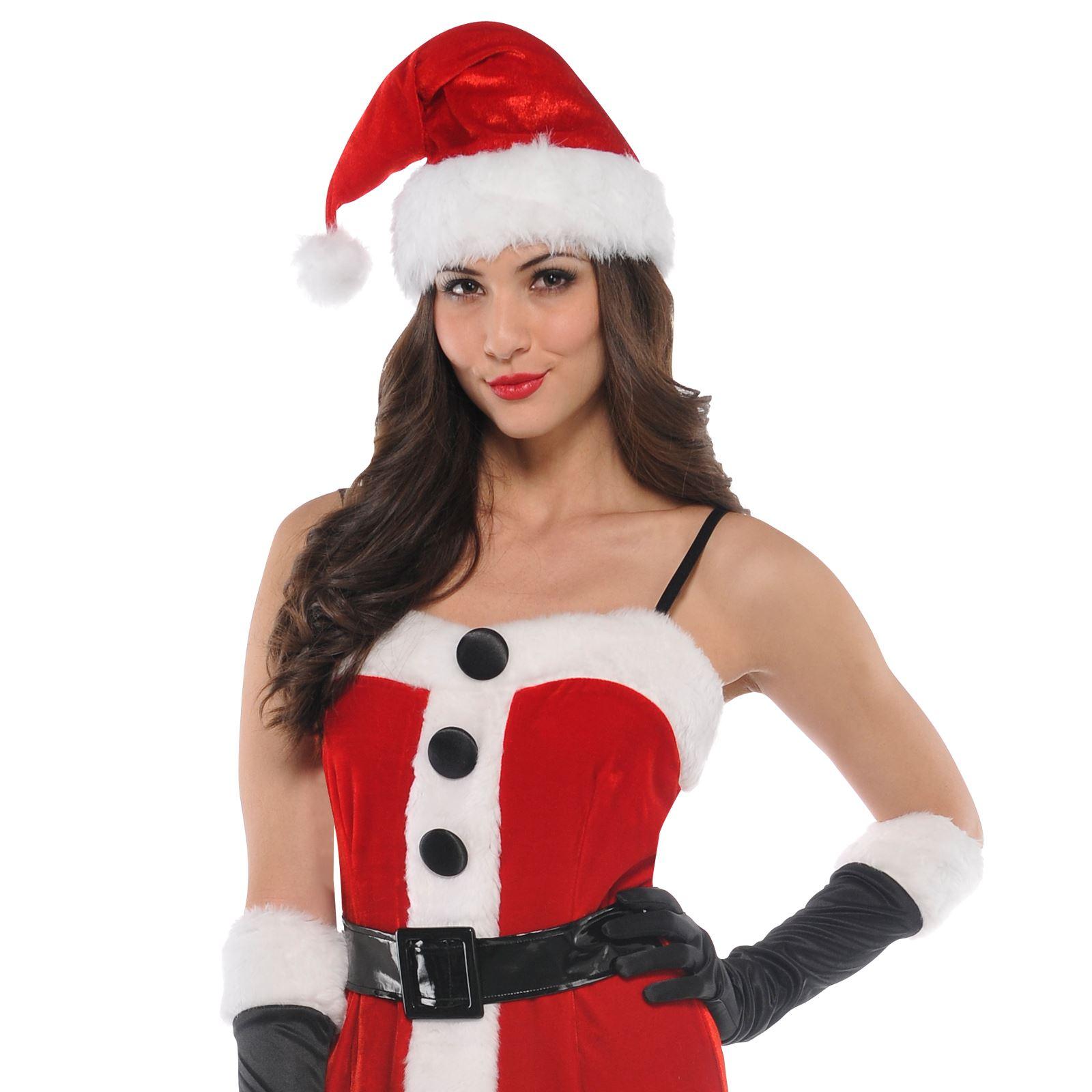 santa ladies christmas xmas womens mrs fancy dress bedroom costume