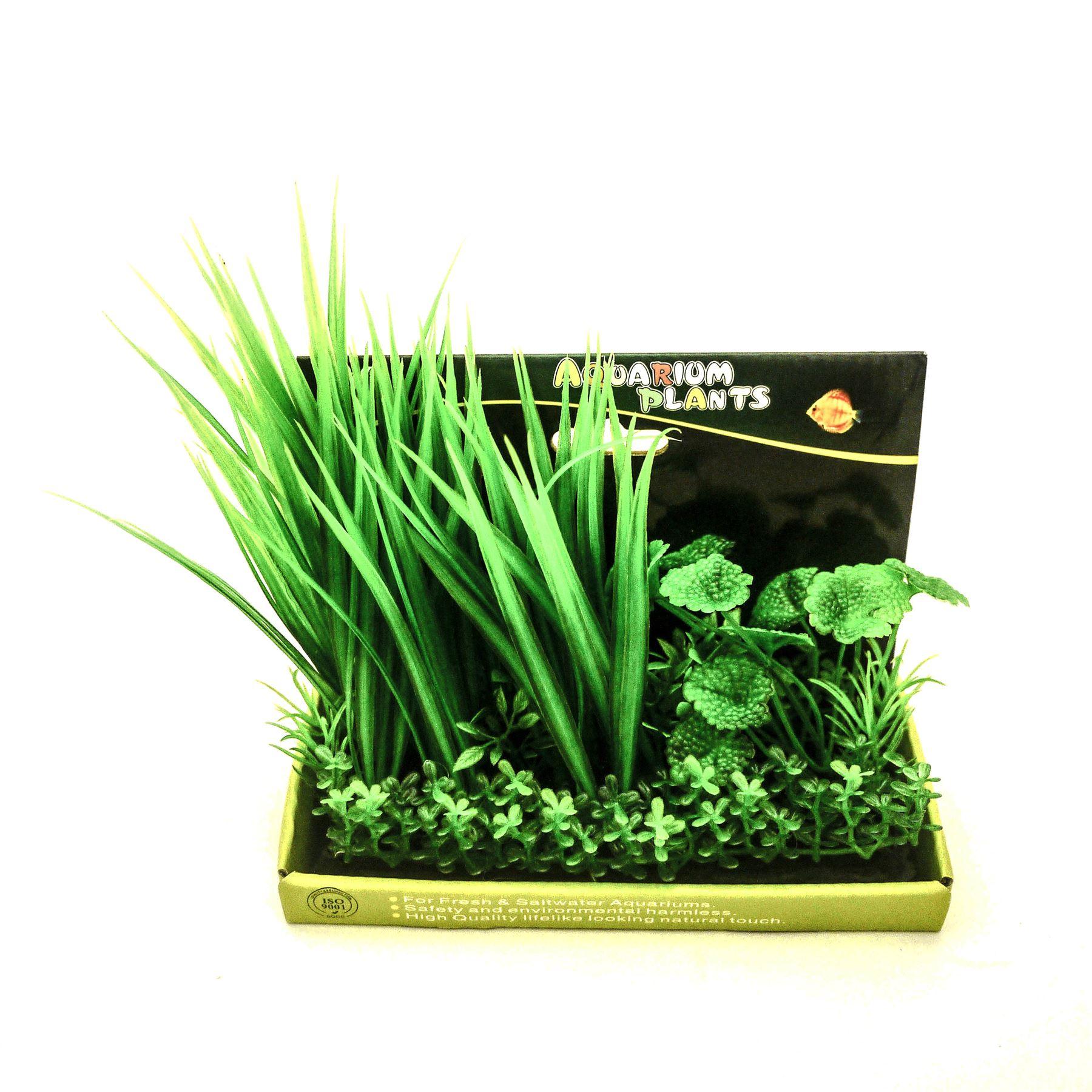 ensemble plante artificielle aquarium poisson plastique ornement d coration ebay. Black Bedroom Furniture Sets. Home Design Ideas
