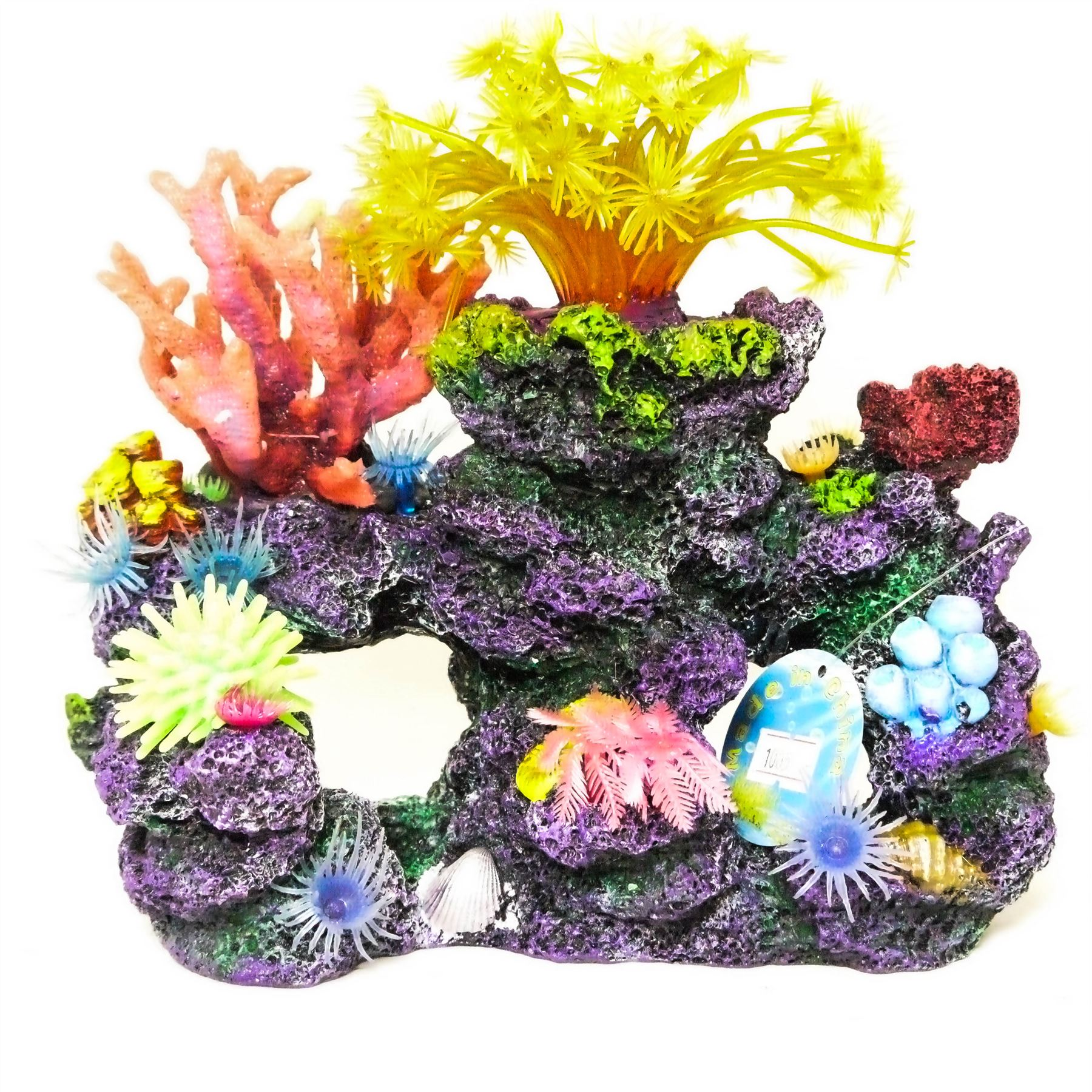 Realistic artificial aquarium coral reef extra large polyp for Artificial coral reef aquarium decoration inserts