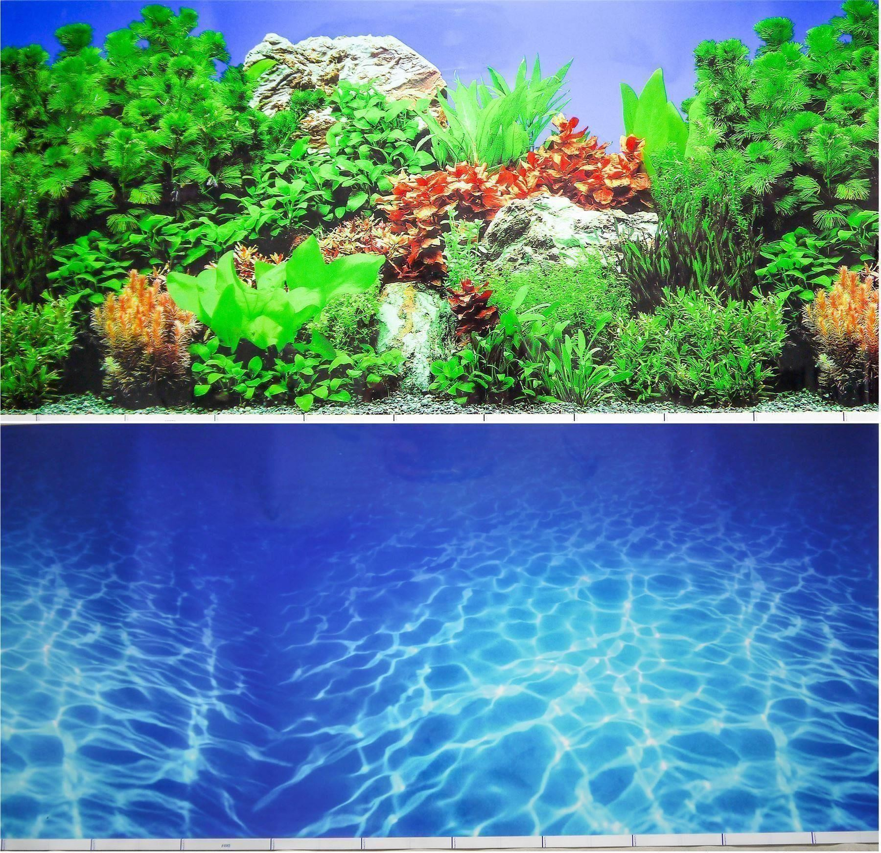 19 double sided aquarium background backdrop fish tank for Piscine fish