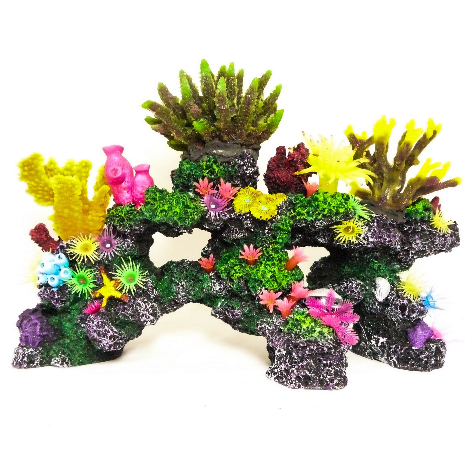 Realistic artificial aquarium coral reef extra large polyp for Artificial coral reef aquarium decoration uk