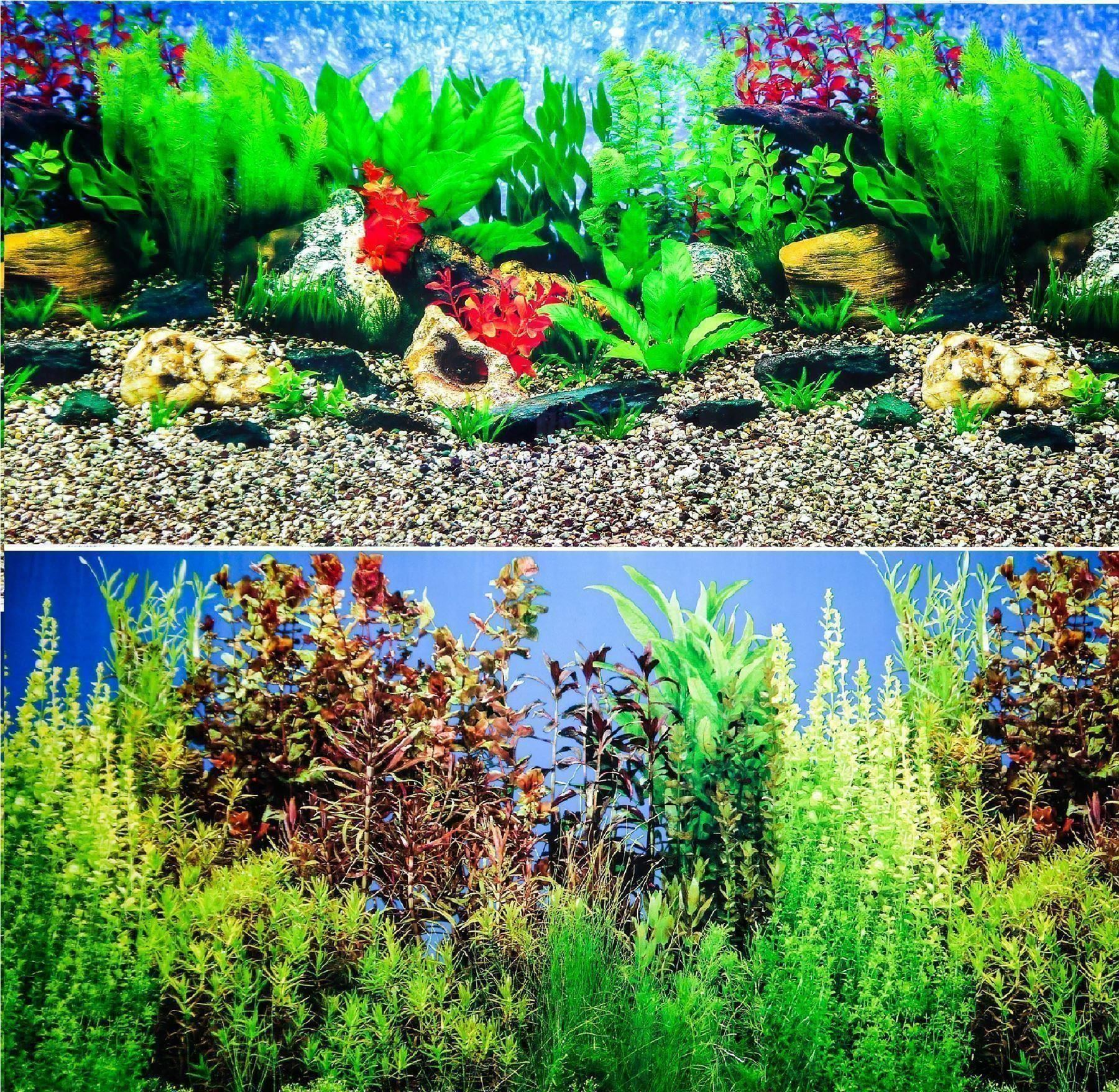 12 double sided aquarium background backdrop fish tank for Fish tank backdrop