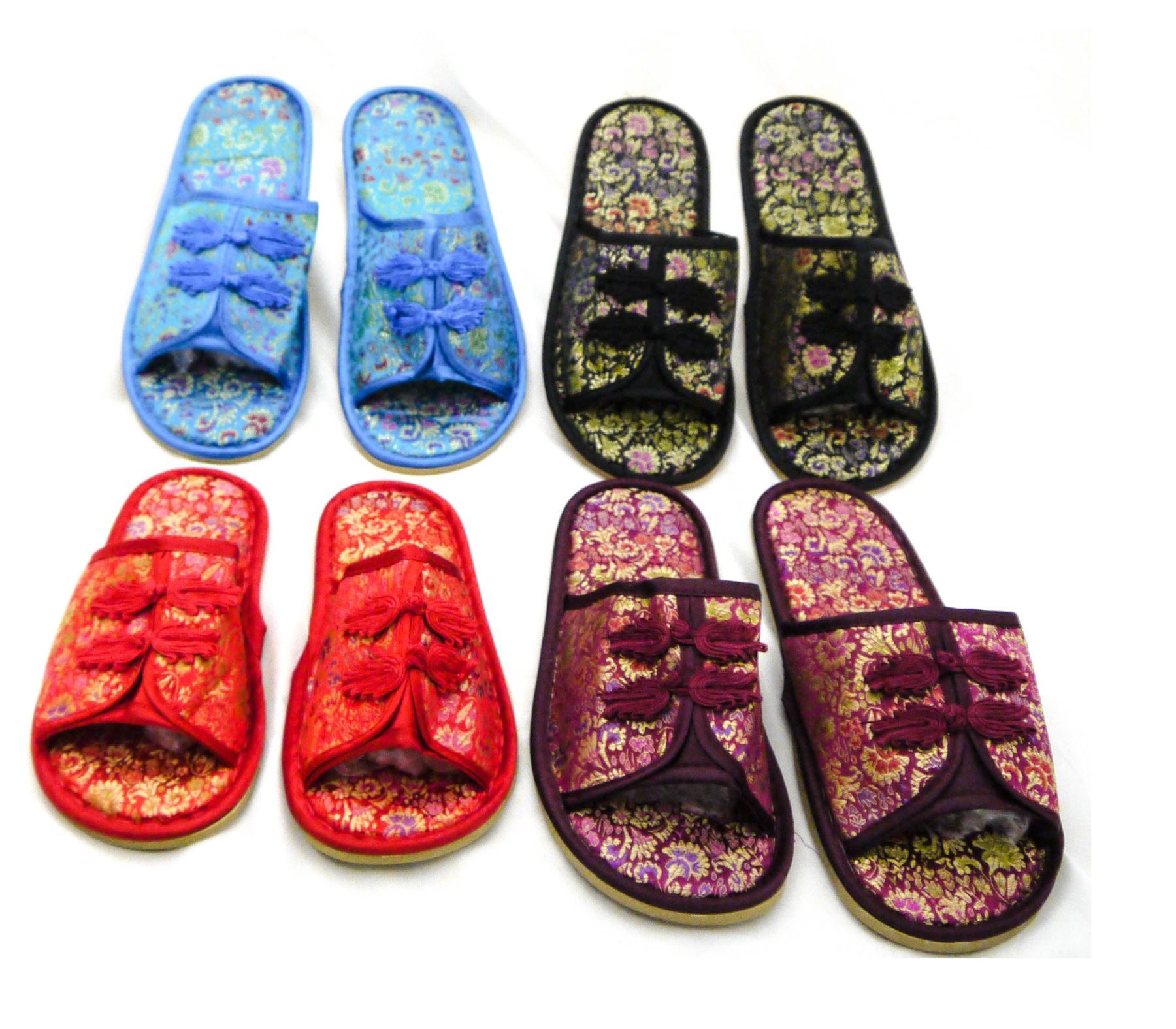 Womens Slippers Traditional Chinese Style Silk Brocade