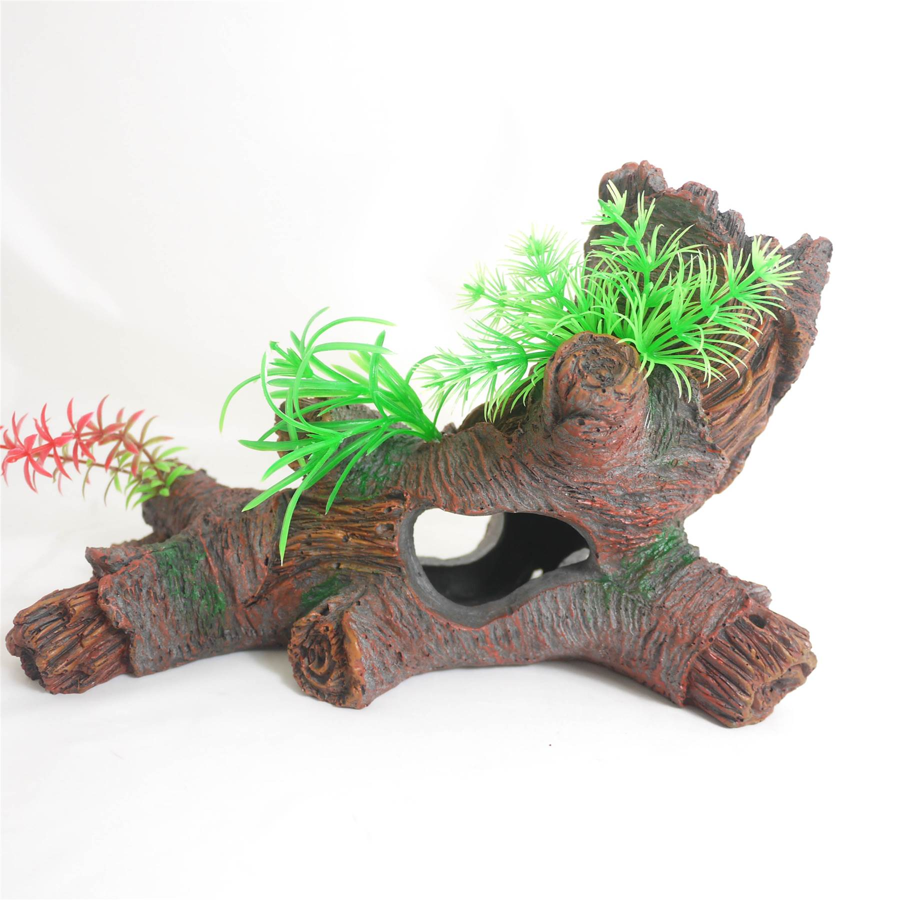 Aquarium resin bogwood drift wood log ornament fish tank for Aquarium log decoration