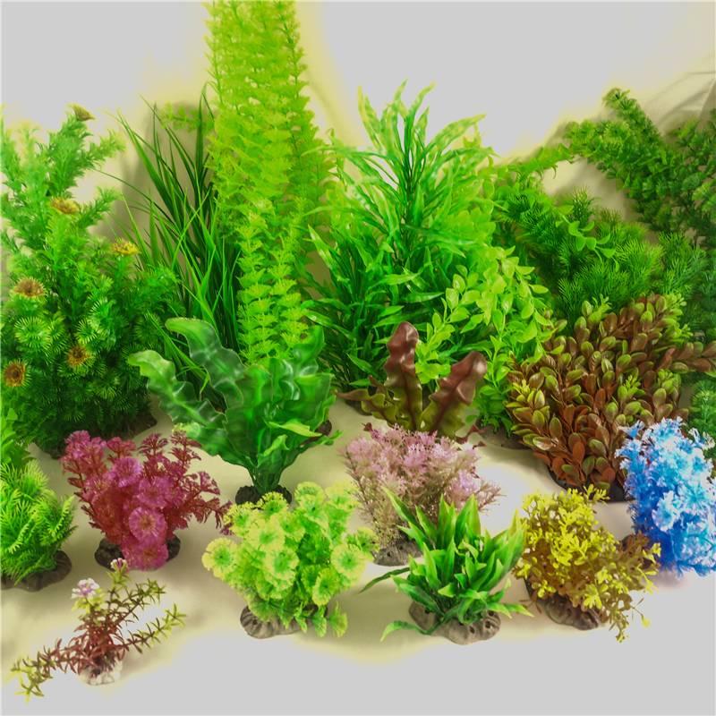 Artificial aquarium tropical plants fish tank decoration for Aquarium decoration uk