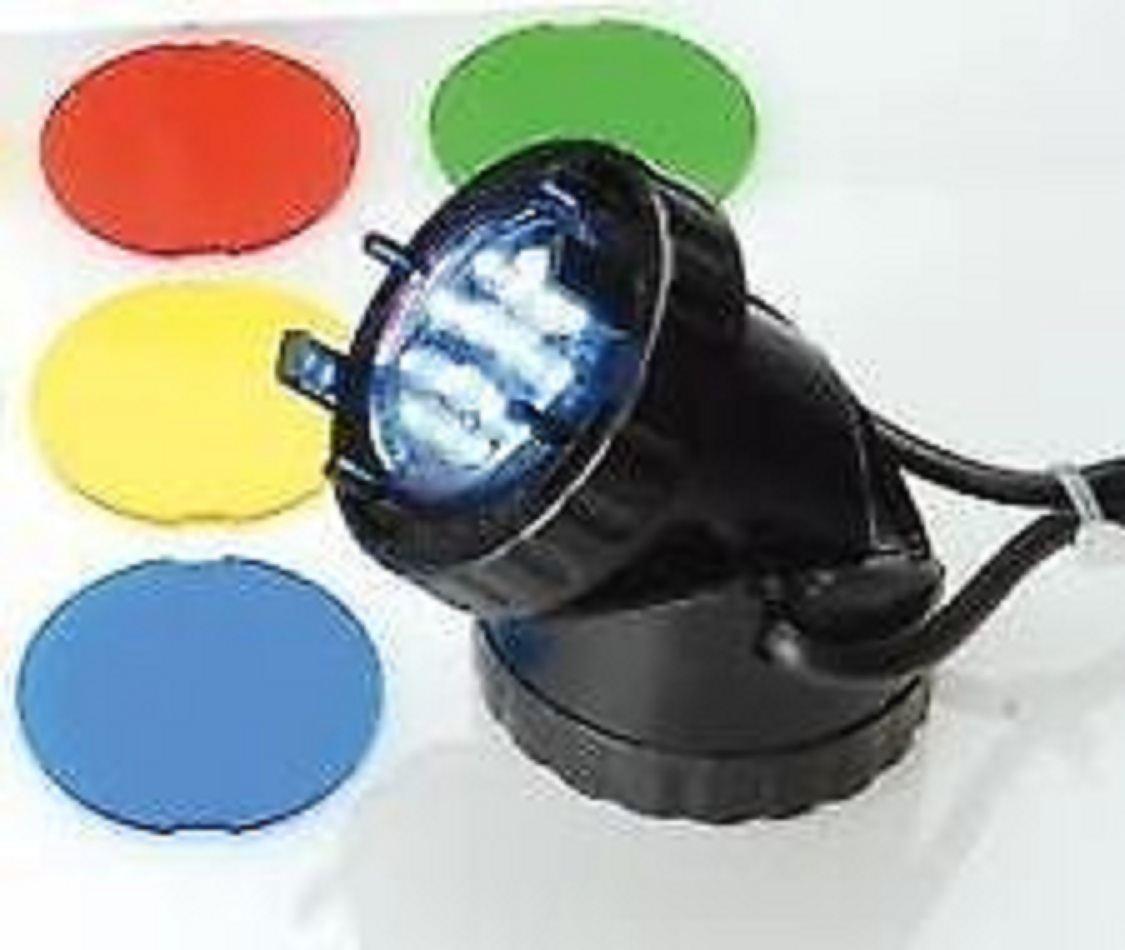 Single jebao 12v led underwater pond lighting light with for Pond lights