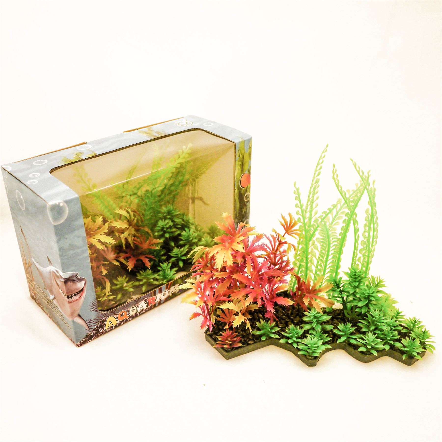 Artificial Aquarium Plant Cluster Fish Tank Decoration ...