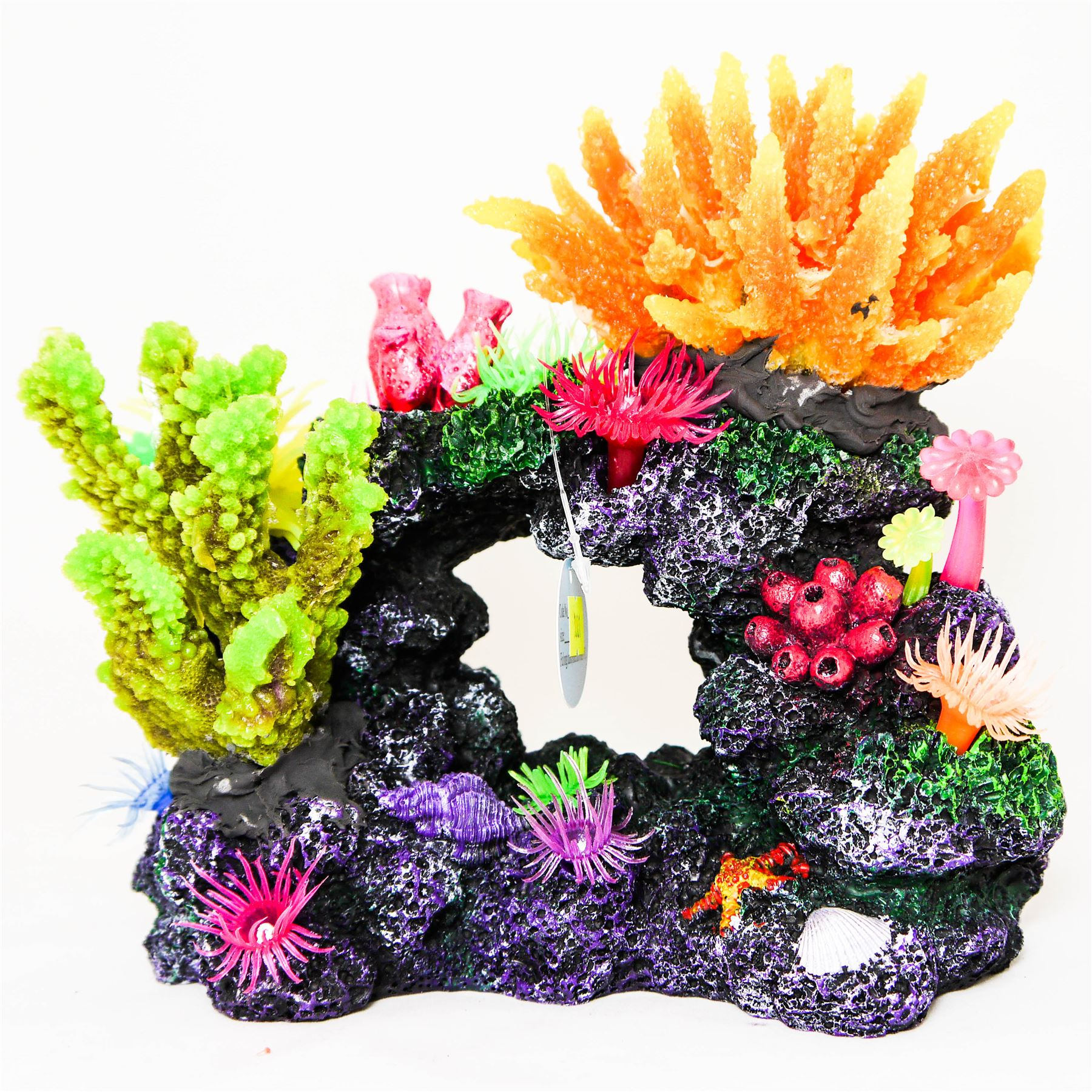 Realistic aquarium ornament fish tank decoration tropical for Aquarium decoration paint