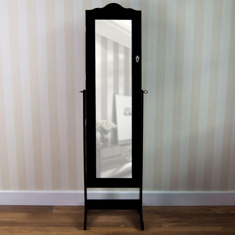 nishano jewellery cabinet mirror floor free standing bedroom storage organiser ebay. Black Bedroom Furniture Sets. Home Design Ideas