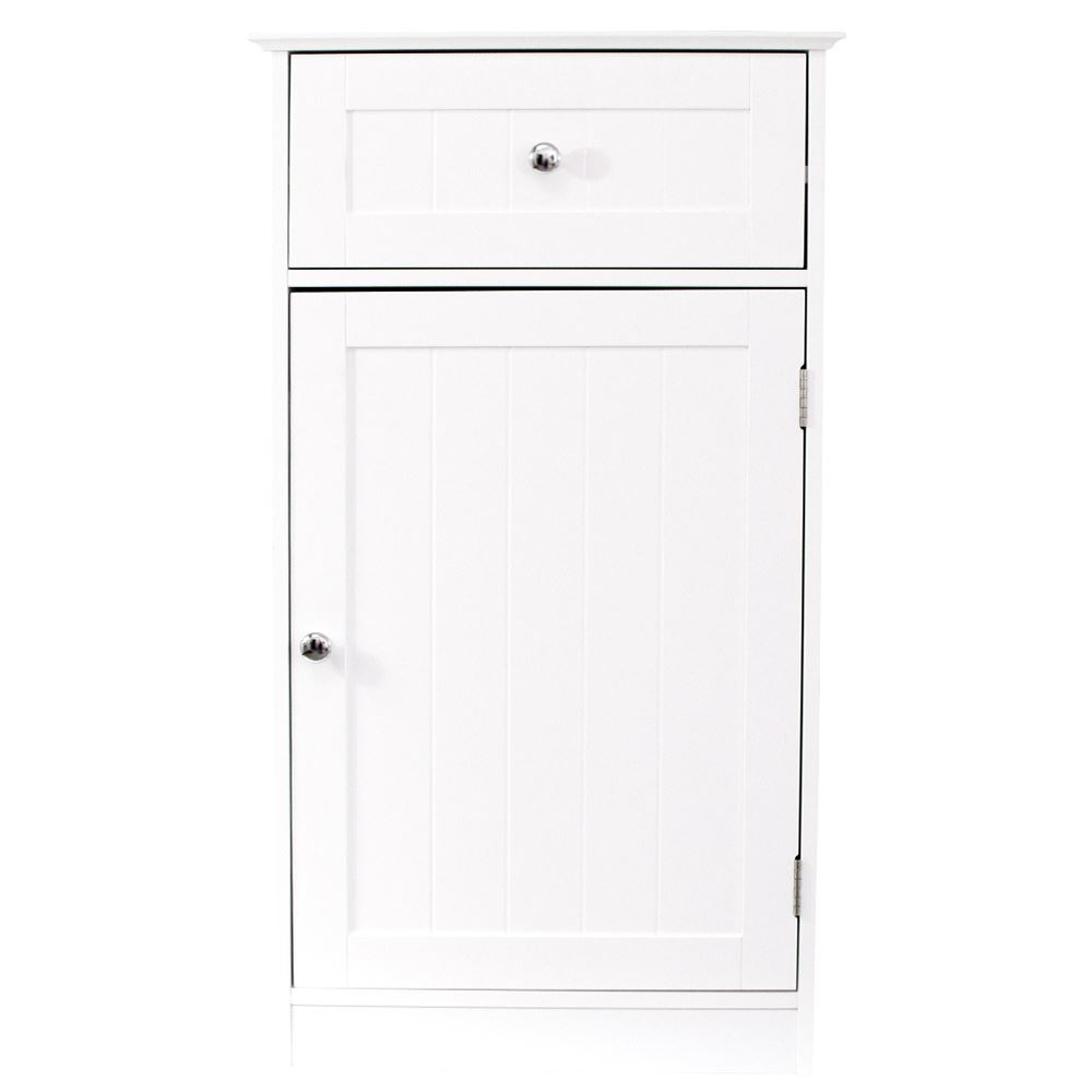 priano free standing unit 1 door 1 drawer white bathroom cabinet storage space. Black Bedroom Furniture Sets. Home Design Ideas