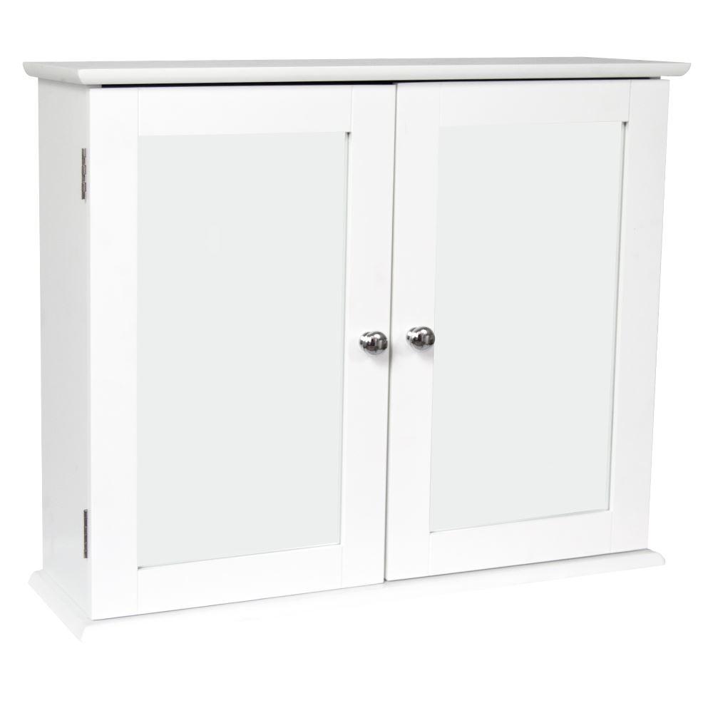 bathroom cabinet single double door wall mounted tallboy cupboard wood