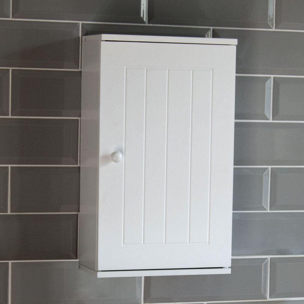 Single Hung Cabinets : Priano bathroom cabinet wall mounted single door cupboard