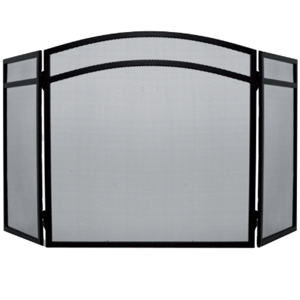 Fire Screen Arched Black Spark Guard Fireplace Fireside Panel By Home Discount Ebay