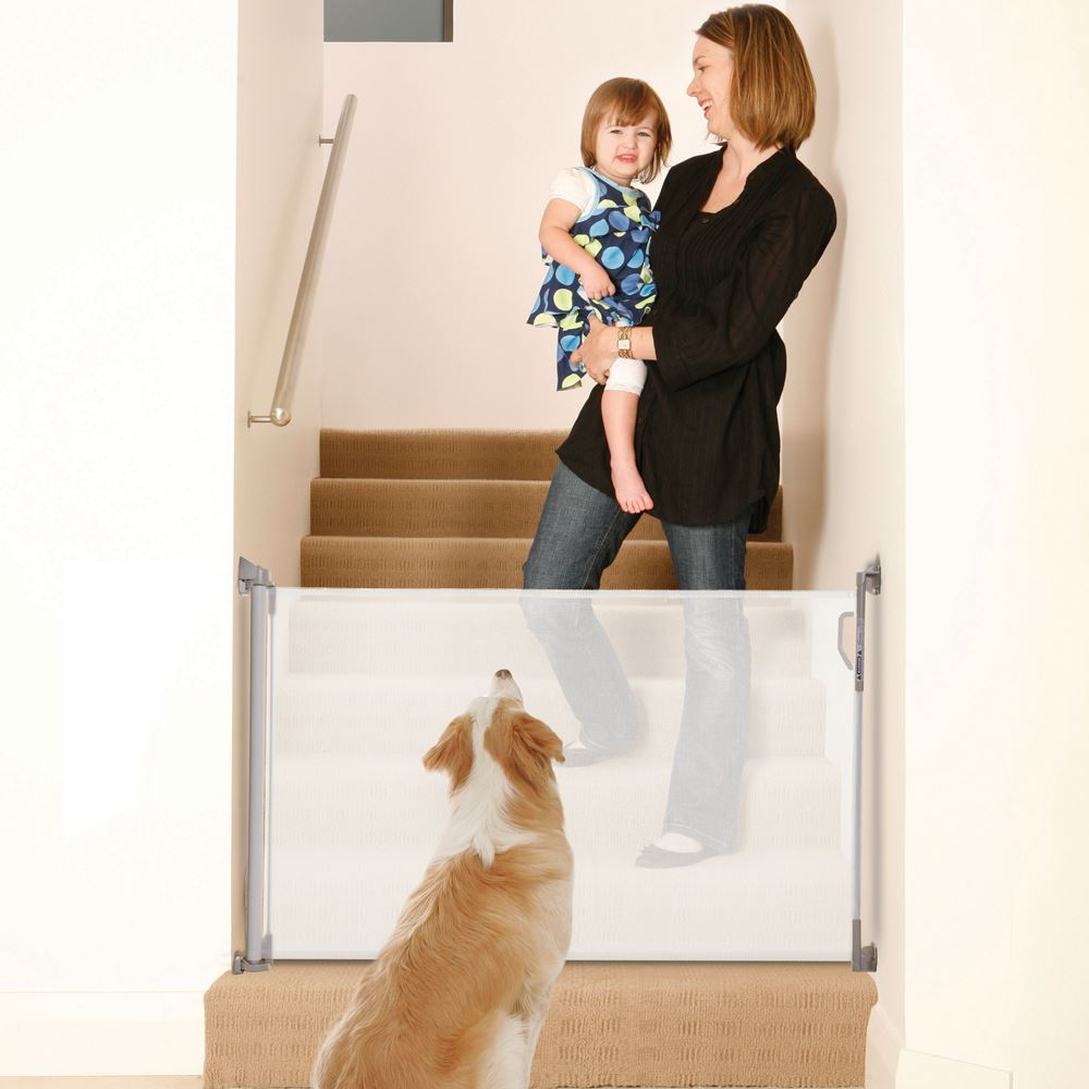 Retractable Gate Baby Kid Safety Pet Stair Folding Guard