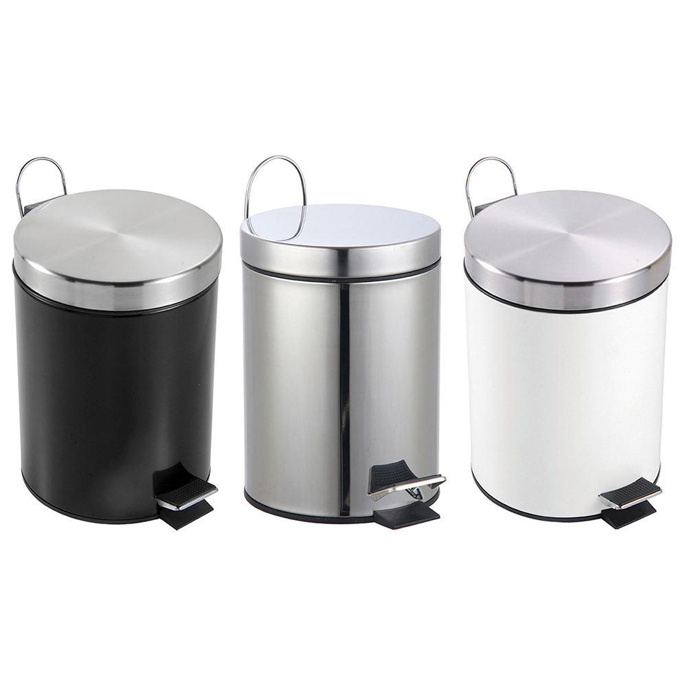 3 litre pedal bin bathroom kitchen stainless steel small. Black Bedroom Furniture Sets. Home Design Ideas