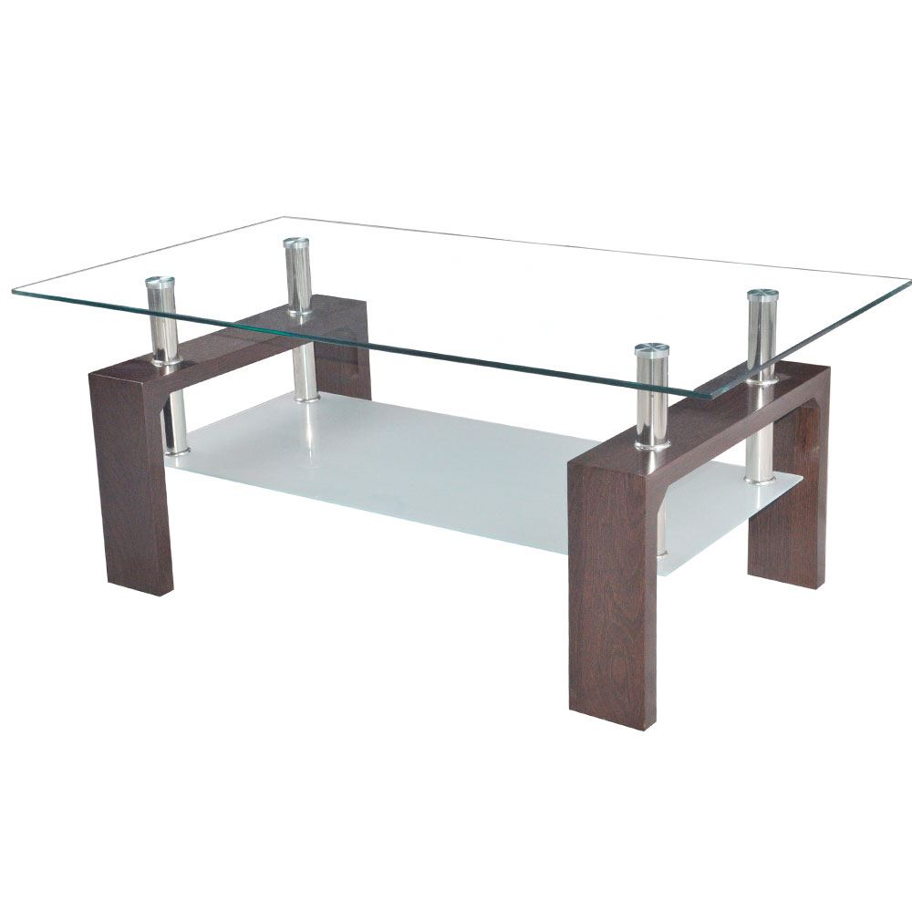 Elise Coffee Tables Rectangular Top White Walnut Black Glass Frosted Furniture Ebay