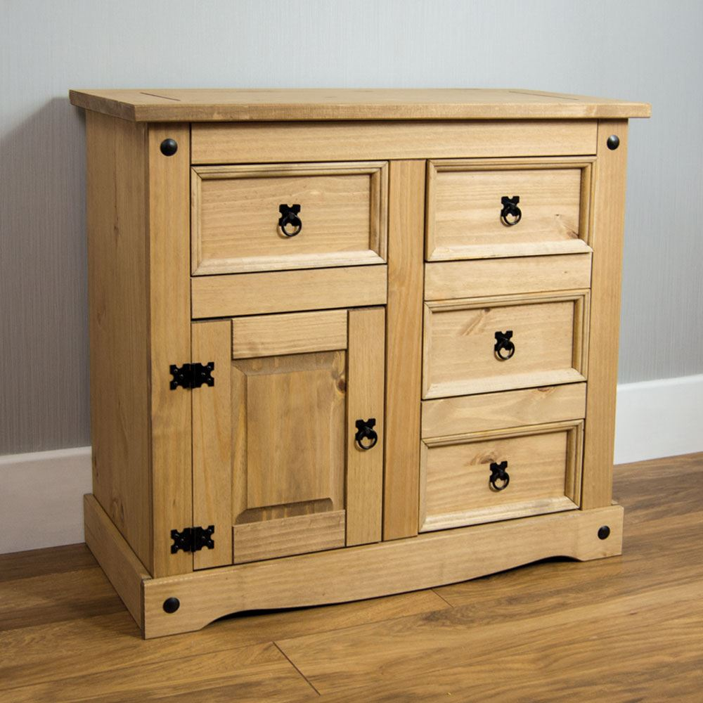 Corona Panama Sideboard Door Drawer Cupboard Solid Pine