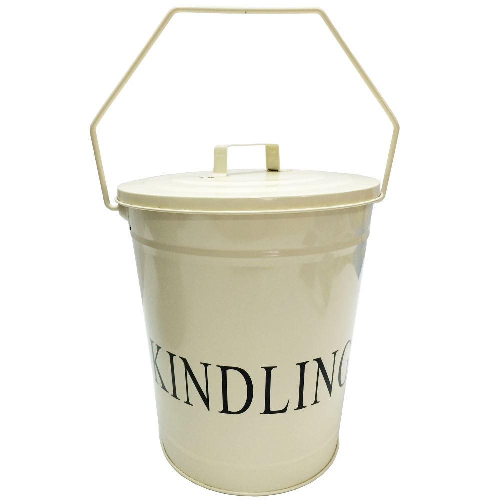 fire log holder coal hod kindling galvanised ash wood bucket by