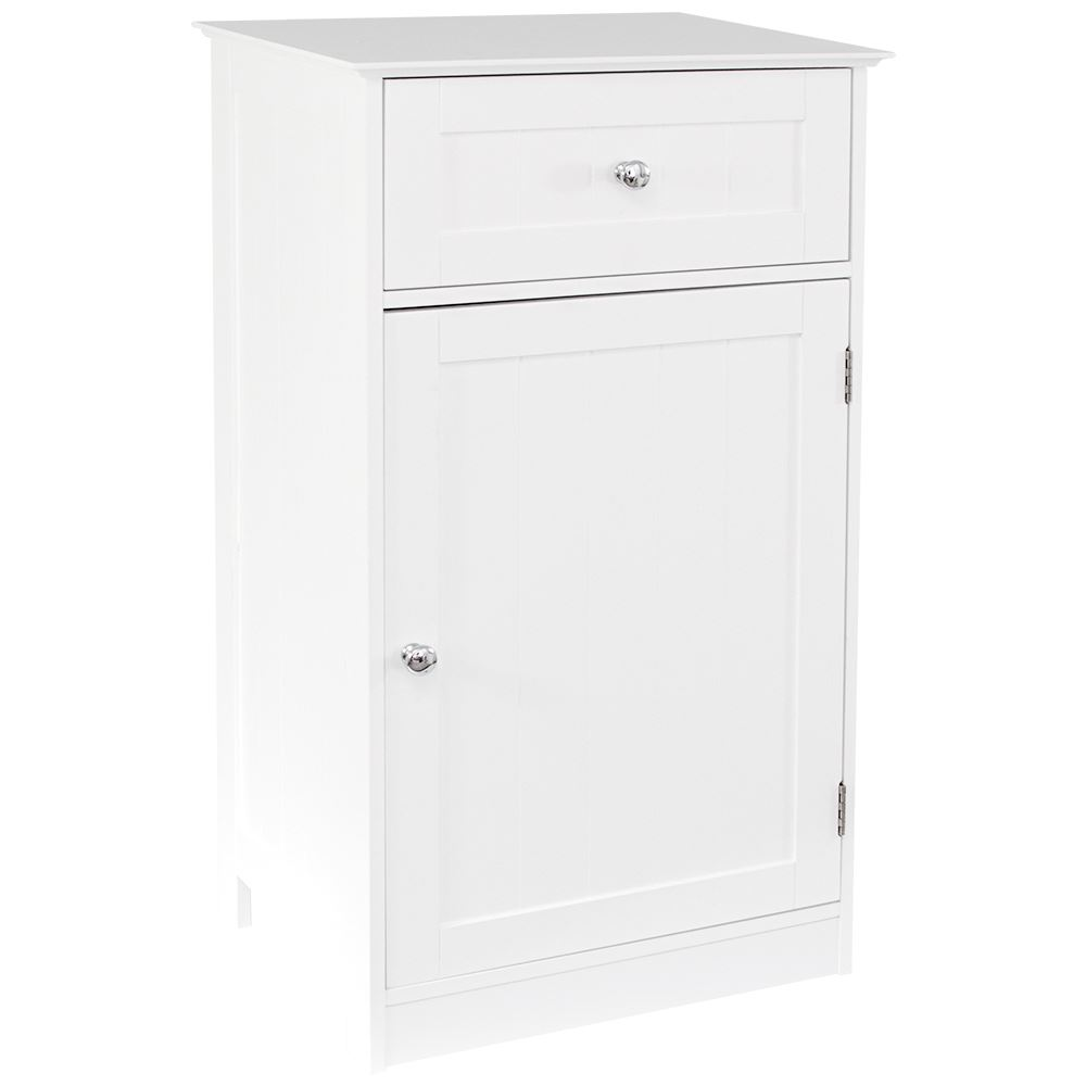 Priano Free Standing Unit 1 Drawer 1 Door White Bathroom Cabinet Vanity Storage Ebay