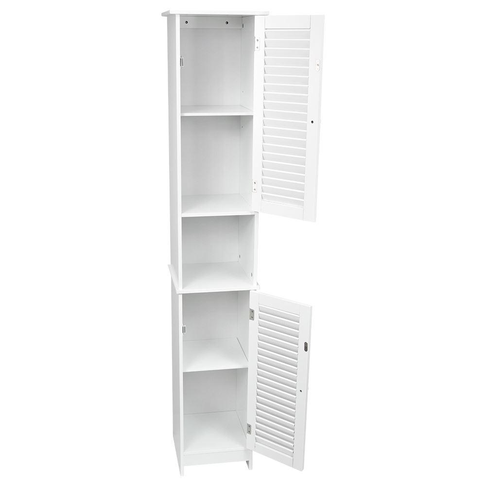 freestanding bathroom cabinet white vanity storage mirror wooden