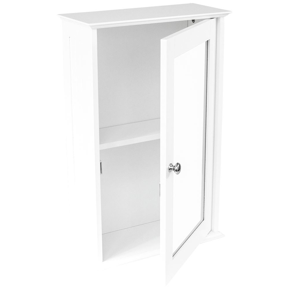 Wall Mounted Cabinet Bathroom White Single Double Door Vanity Storage Cupboard Ebay