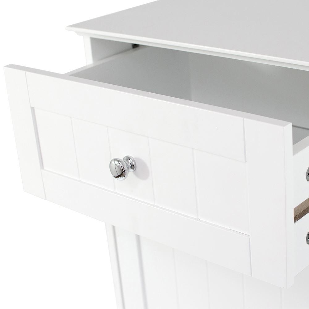 Bathroom cabinet 1 door 1 drawer freestanding storage unit wood by home discount ebay for Freestanding bathroom storage