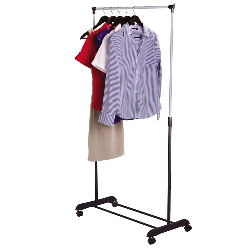 single garment rack silver pink clothes adjustable hanging. Black Bedroom Furniture Sets. Home Design Ideas