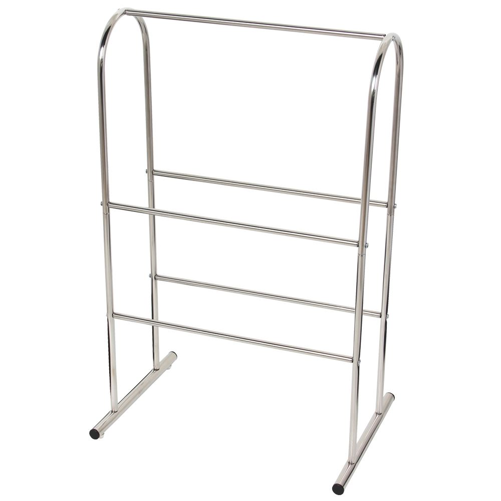 Towel Holder Free Standing Chrome Bathroom Rack Floor Rail Unit By Home Discount Ebay