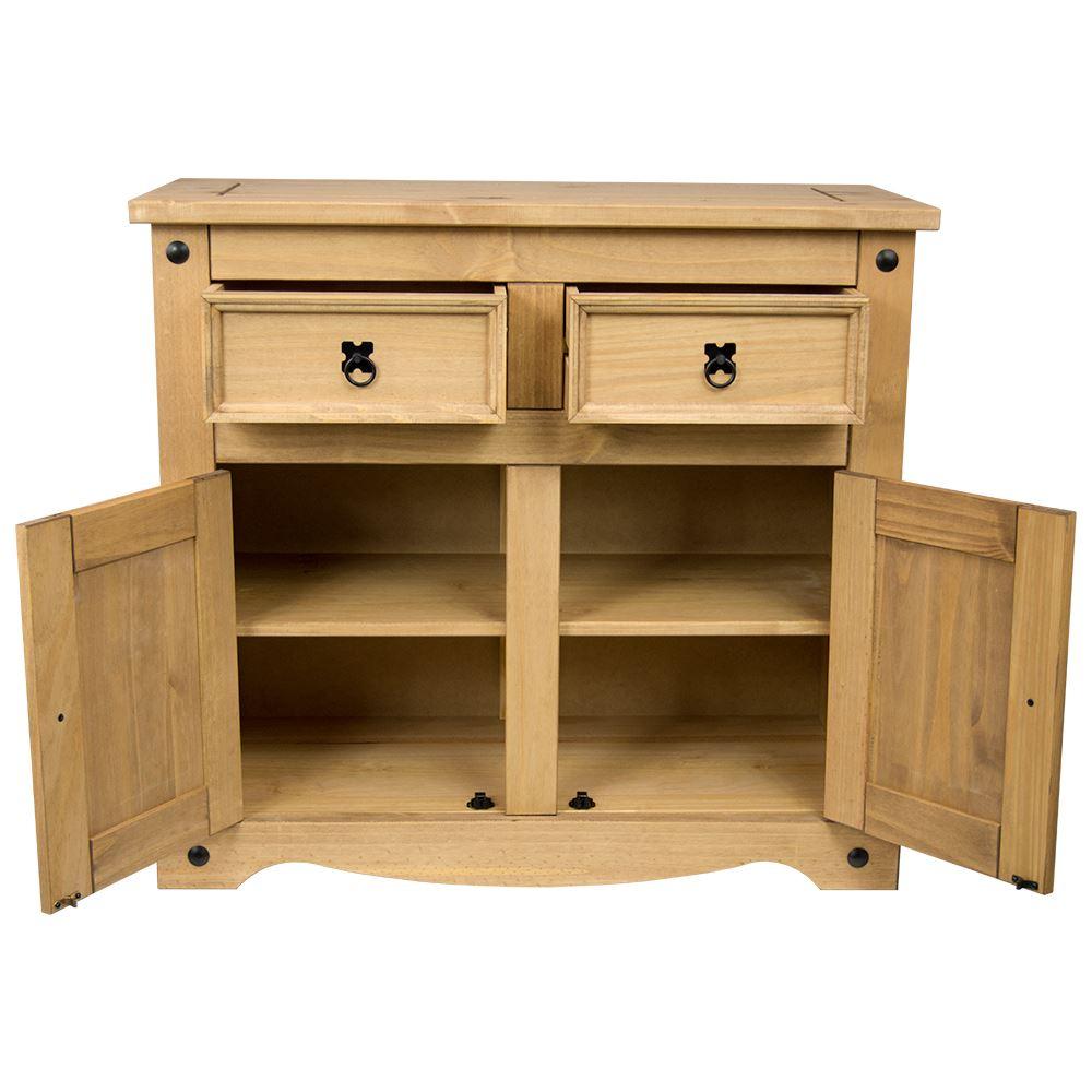 Corona Panama Sideboard Door Drawer Cupboard Solid Pine Waxed Mexican Furniture Ebay