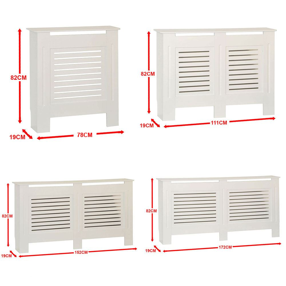 Mdf Kitchen Cabinets Price: Milton Radiator Cover White Modern MDF Wood Cabinet Grill