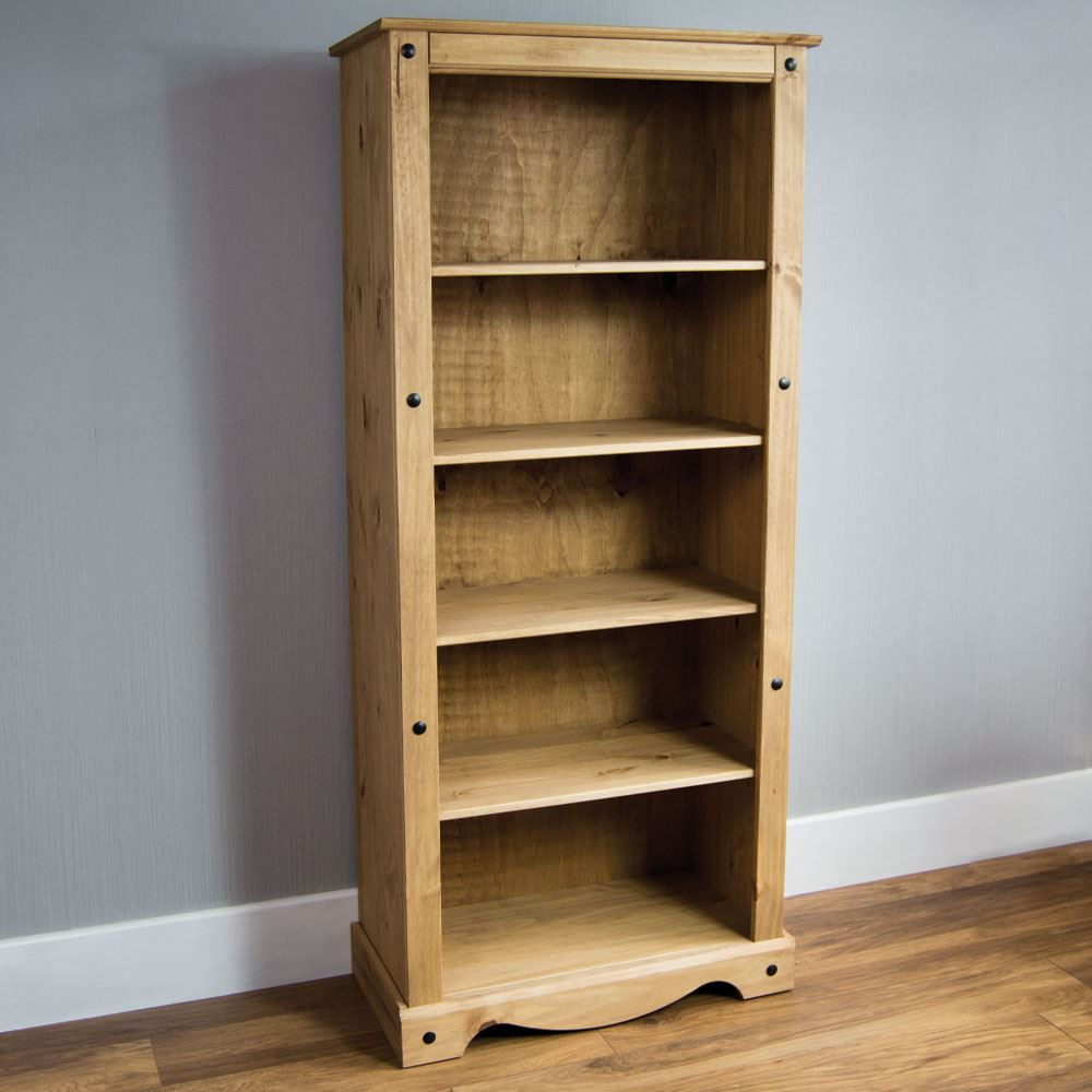Discount Wooden Bookcases ~ Corona tall bookcase large display unit solid mexican pine