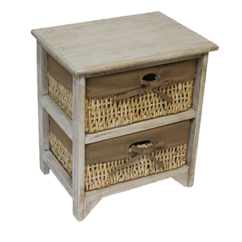 2 drawer unit natural maize wood white drawers storage for White wooden bathroom drawers
