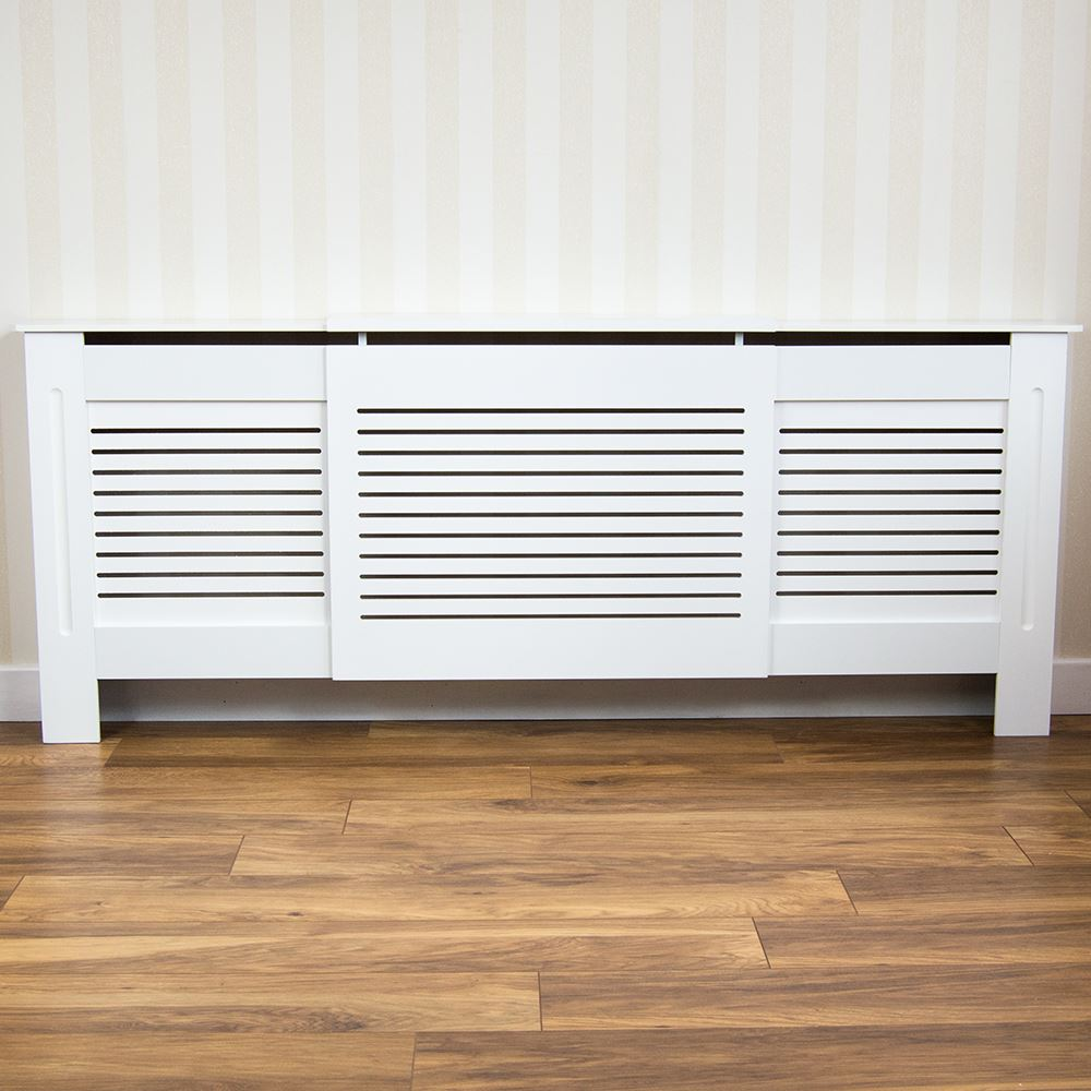 Painting Mdf Kitchen Cabinets White: Milton Radiator Cover Adjustable Modern White Cabinet