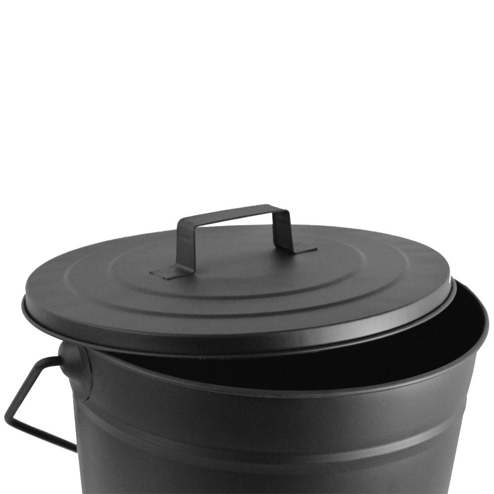 ASH BUCKET Black Fire Coal Wood Log Storage Basket