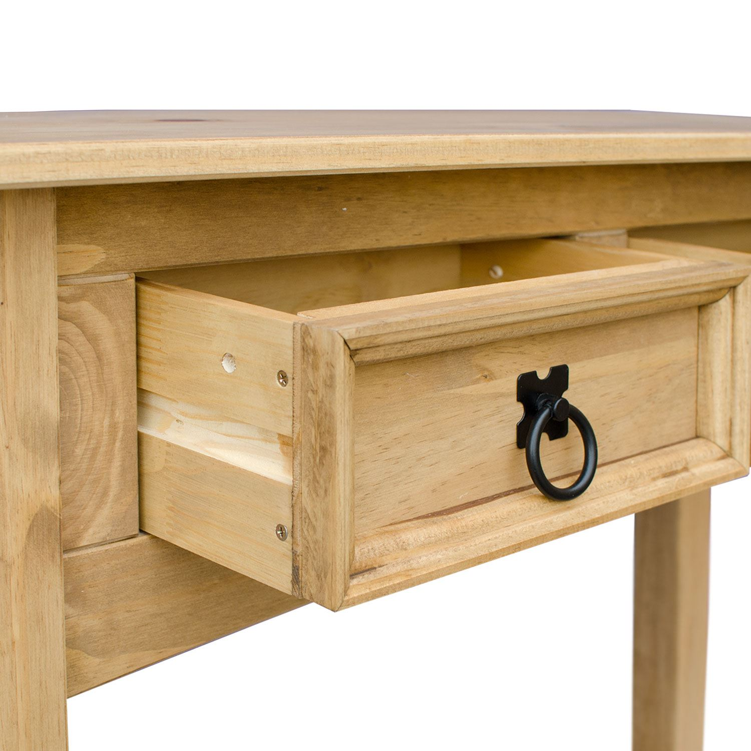 corona 1 drawer or 2 drawer pine console table with shelf. Black Bedroom Furniture Sets. Home Design Ideas