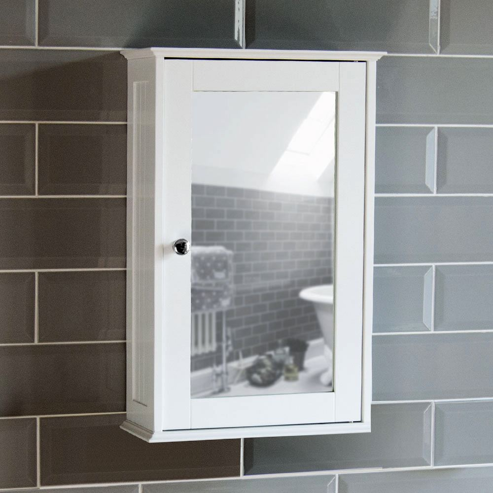 Milano Bathroom Cabinet Single Double Mirrored Doors Wall