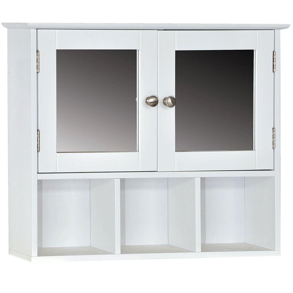 Wall Mounted Cabinet Bathroom White Single Double Door Vanity Storage Cupboard Ebay