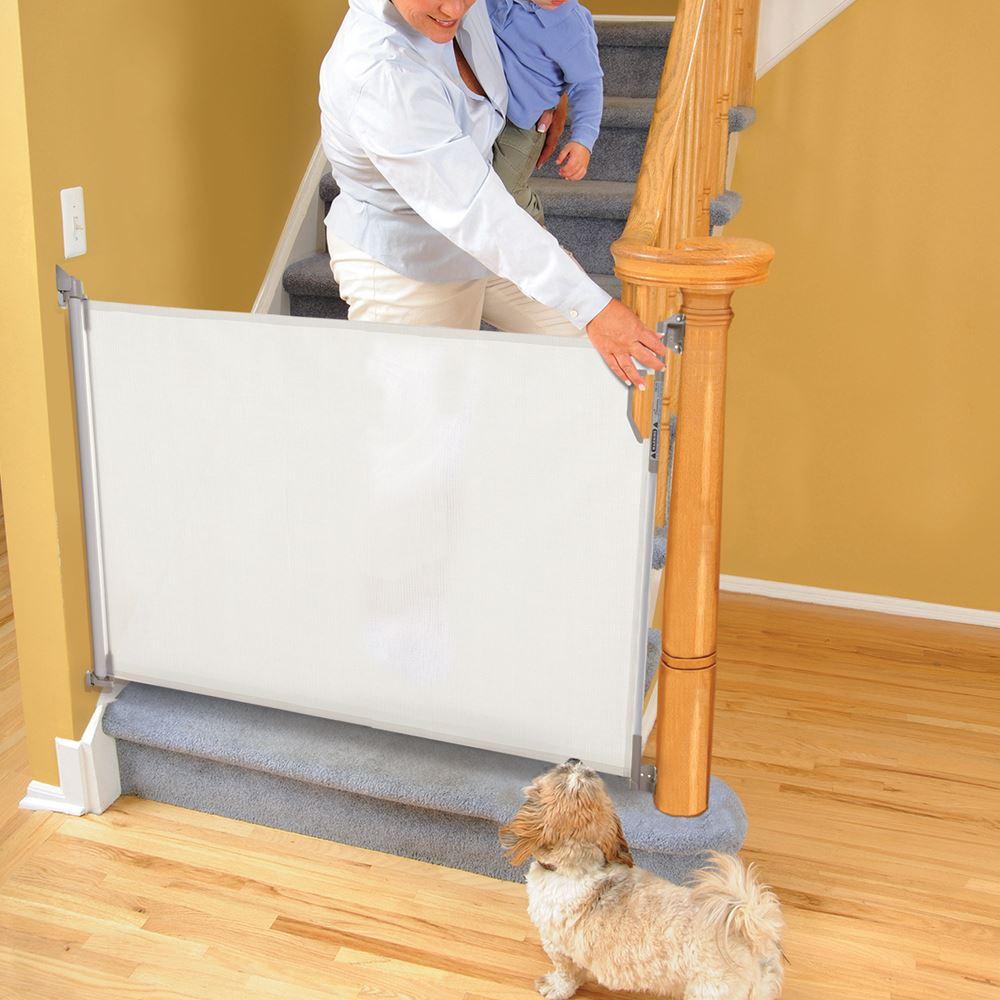 retractable gate baby kid safety pet stair folding guard safe  - retractablegatebabykidsafetypetstairfolding