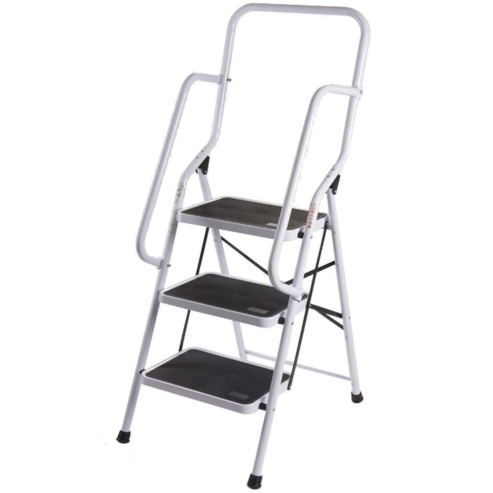 Step Ladder Handrail Non Slip Safety Tread Foldable Rail
