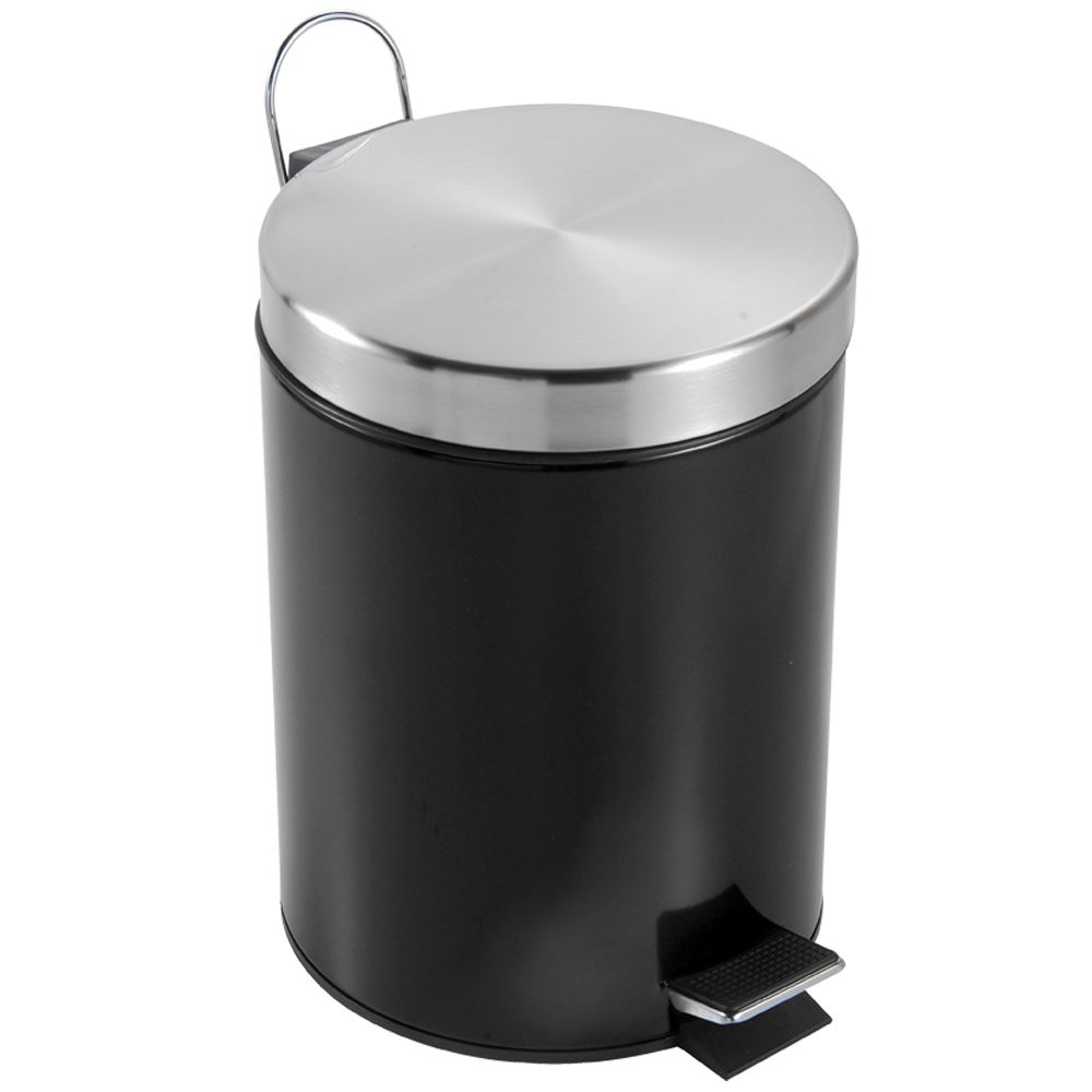 Kitchen Waste Bins: 3 Litre Pedal Bin Stainless Steel Bathroom Kitchen Waste