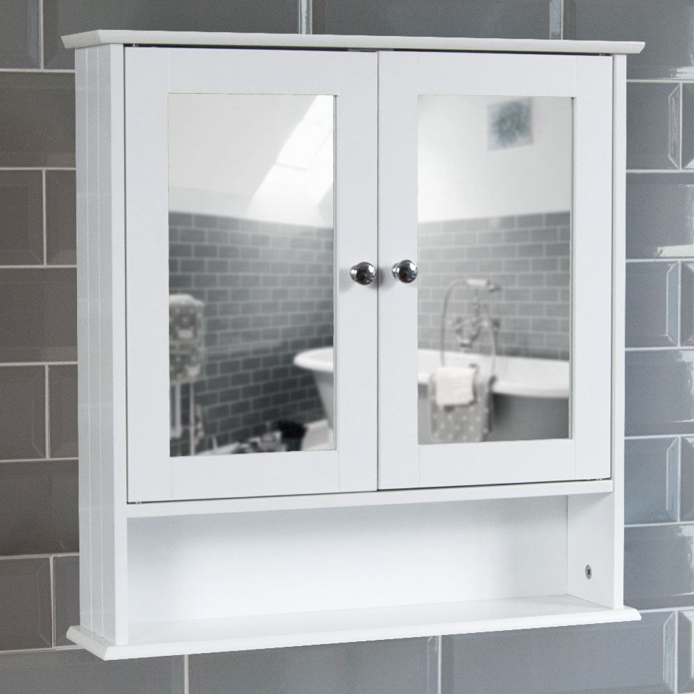Bathroom Cabinet Single Double Door Wall Mounted Tallboy Cupboard Wood White Ebay