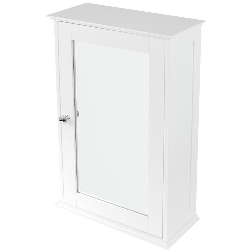 Bathroom Cabinet Single Double Door Wall Mounted Tallboy Cupboard Wood White Ebay
