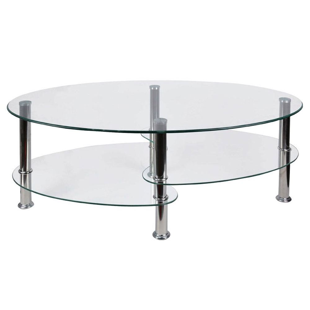 Cara furniture range coffee table nest of 3 tables glass top stainless steel ebay Metal glass top coffee table