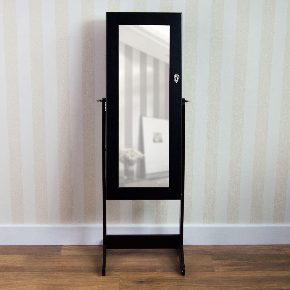 Nishano jewellery cabinet mirror floor free standing for Bedroom wall cabinet with mirror